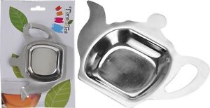 Tea Pot Shaped Spoon Rest Holder Tea Bag Holder Stainless Steel Teabag Holder