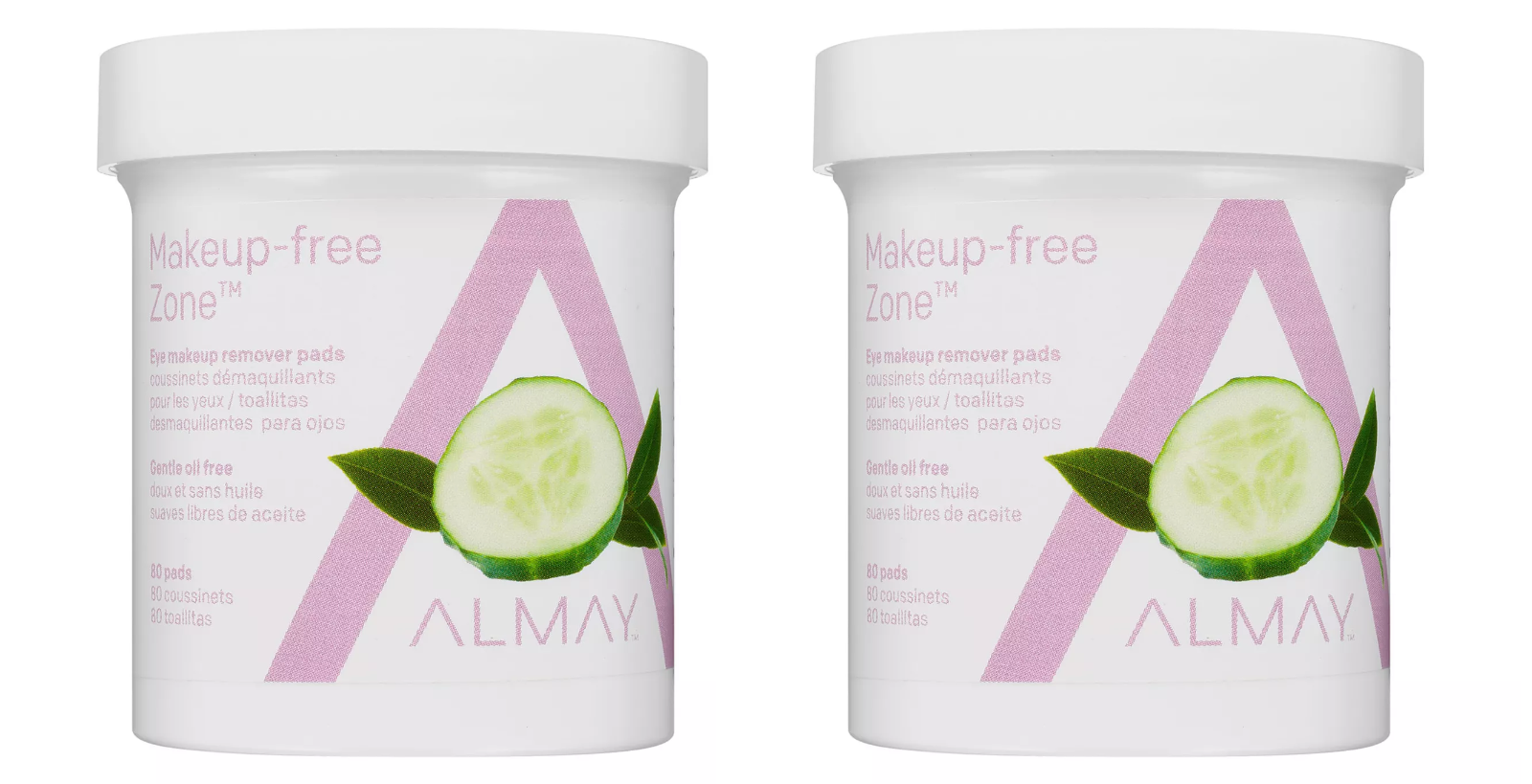 Almay Oil Free Gentle Eye Makeup Remover Pads, 80 Ct