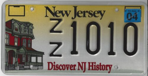 NEW JERSEY LICENSE PLATE DISCOVER NJ HISTORY