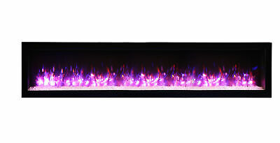 Amantii Symmetry SYM-74-B Clean Face 74″ Basic Built-in Electric Fireplace