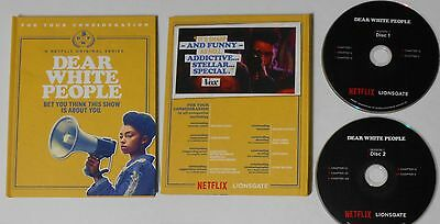 Netflix  Dear White People  U S  Promo Fyc 2 Dvd In Special Book Cover