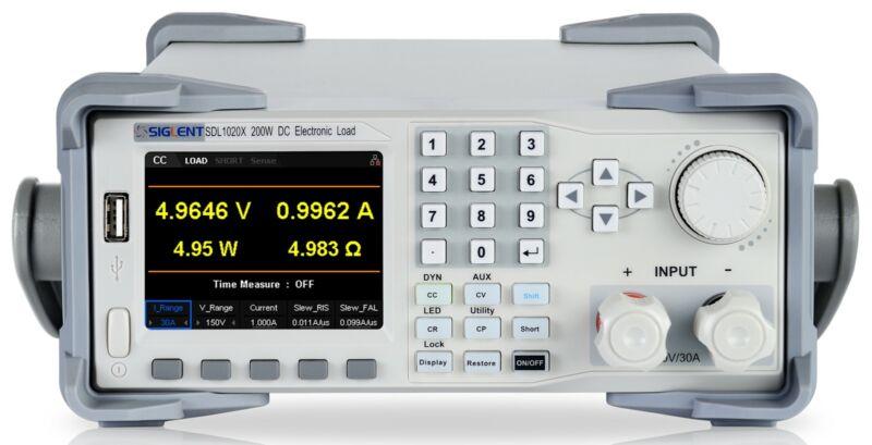 Siglent SDL1030X - Programmable DC Electronic Load, 150V/30A/300W, 0.1mV/0.1mA M
