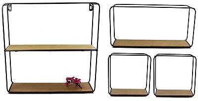 Metall Wandregal 4er Set in 3 Größen - Design Hängeregal Bad Regal Küchenregal