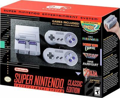 SNES Classic Edition Mini Wonderful Nintendo Entertainment System Free Priority Ship
