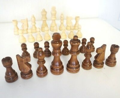 New Wooden Chess Set 32 Pieces - King 7.8 cm (Pieces Only) Total Weight 160 g
