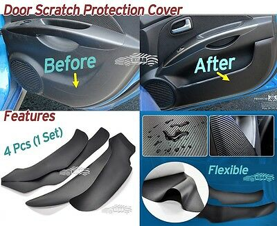 Carbon Inside Door Cover Kick Scratch Protector 4P for Hyundai SONATA 2014 ~2017