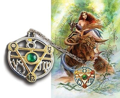 Elemental Earth Talisman Card Gift Set Planetary Sigils Taurus Virgo Capricorn