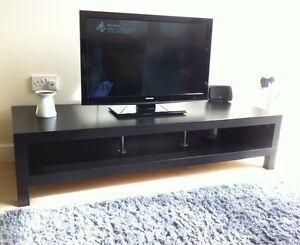 ikea lack wooden tv stand cabinet next john lewis black brown ebay. Black Bedroom Furniture Sets. Home Design Ideas