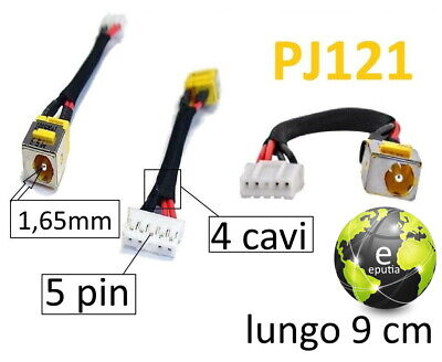 CONNETTORE ALIMENTAZIONE POWER DC JACK NOTEBOOK ACER Extensa 5610 Series
