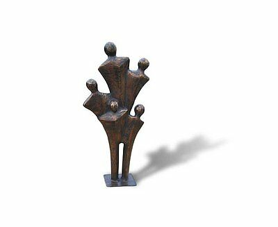 Abstract Oscar Family Brass Ornament  - Ideal Gift For Outdoor Patio Garden 40cm