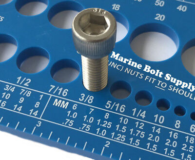 Screw Bolt Nut Thread Measure Gauge Size Checker Standard Metric Color Blue