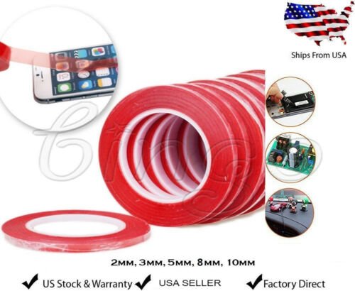 3M RED Double Sided Super Sticky Heavy Duty Adhesive Tape Fo