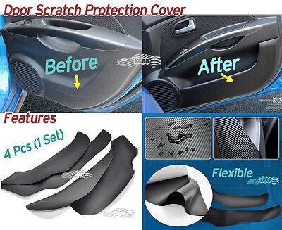 Carbon Inside Door Cover Kick Scratch Protector 4P for Hyundai Santa Fe 2019~20