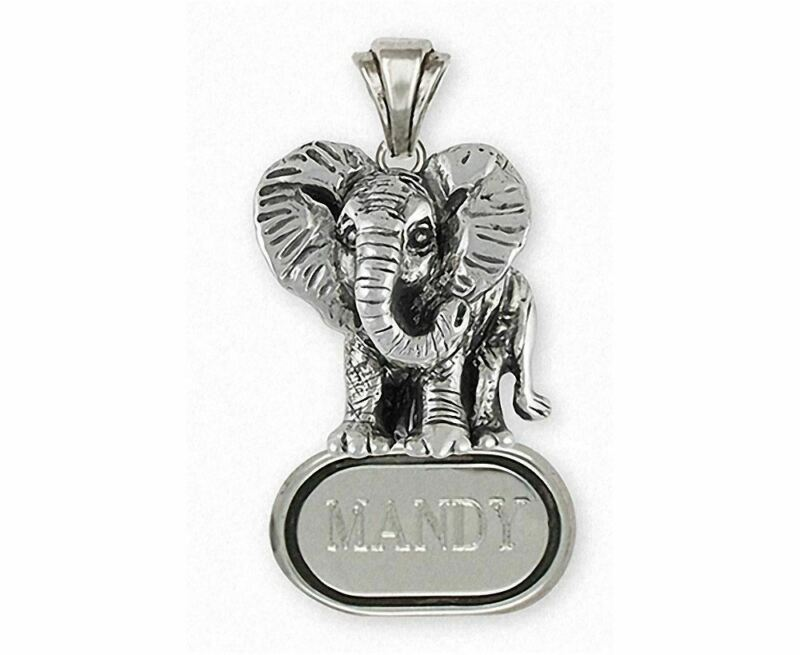 Elephant Jewelry Sterling Silver Elephant Pendant Handmade Wildlife Jewelry EL7-