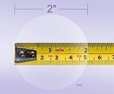 Wafer Envelope Mailing Seals 2 Diameter Translucent 1000 Labels Per Roll