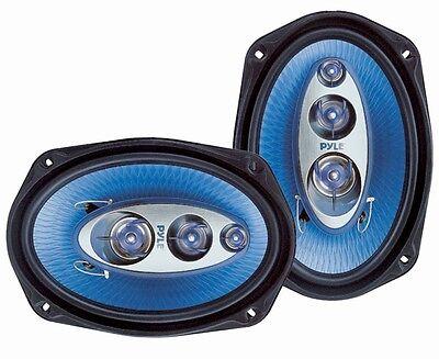 Pair of Pyle PL6984BL 6''x 9'' 400 Watt Four-Way Coax Speakers Car