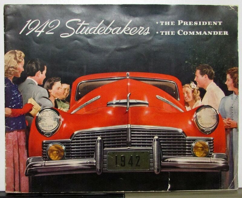 1942 Studebaker President & Commander Color Sales Brochure XL Original