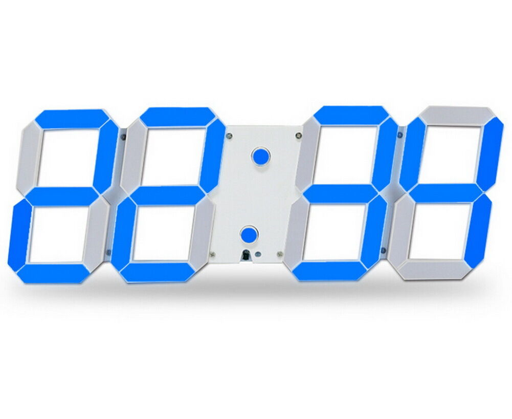 led squelette horloge murale a affichage digitale. Black Bedroom Furniture Sets. Home Design Ideas