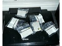 Epson printer scanner photocopier with 7 extra cartridges