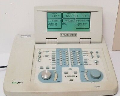 Welch Allyn Grason Stadler Gsi 61 Cllinical Audiometer 2 Channel 1761-97xx