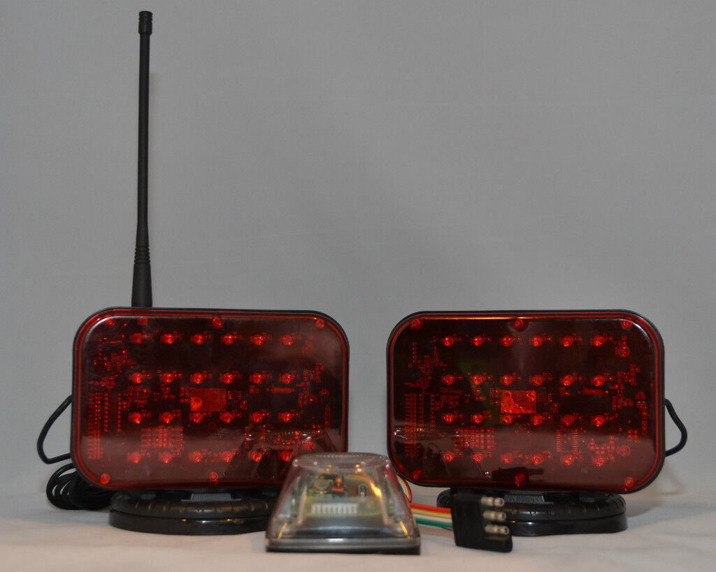 Red Truck Lamp : Tw lm red wireless led tow truck lights towing light set