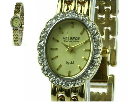 CLEARING INVENTORY - BEAUTIFUL WATCH with 4 DIAMOND STUDS by HELBROS