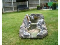 Water feature / Pond water fall stream with two pools