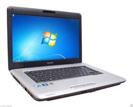 FAST HDMI WINDOWS 7 LAPTOP TOSHIBA WEBCAM INTEL CORE2 3GB RAM 250GB HDD