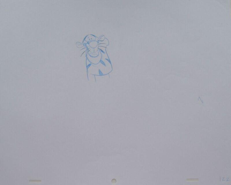 Walt+DISNEY+Animation+Art+Cel+Production+Drawing+Tigger+Winnie+Pooh+%2310