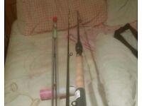Carp feeder rod and reel