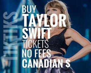 Taylor Swift Concert tickets We're like StubHub/Vivid but cheaper, NO FEES, CA$, 5% off special