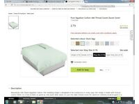 Pure Egyptian Cotton 400 Thread Count Duvet Cover, Marks and Spencer, Duck Egg, King Size, RRP £79