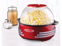 SP300RETRORED | '50S-STYLE STIR POPPER POP CORN MAKER BIGG RRP £45
