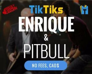 Enrique et Pitbull Concert Billets Tickets Live at Bell Centre le 9 octobre! NO FEES, CAD$, 5 Star Canadian Company