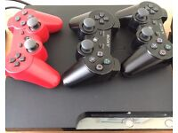 Sony PS3 with 4 Wireless Controllers