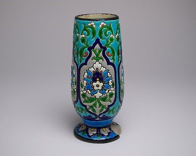 Antique 19thc. Jules Vieillard pottery Chinese / Islamic inspired vase.