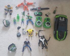Ben 10 assorted toys
