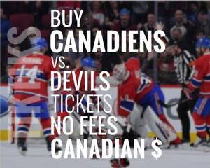 Habs vs Devils tickets April 1st! We're like Ticketmaster/StubHub but no fees, CA$, 5% off for new customers