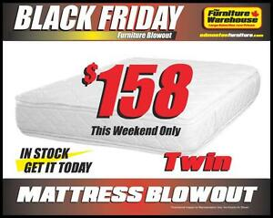 BLACK FRIDAY Mattress Blowout-starting @ $158