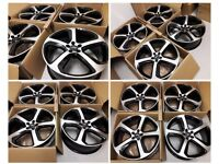 "HT125* NEW ALLOYS 20"" INCH AUDI A3 A4 ALLOY WHEELS A5 A6 A7 A8 S3 S4 S5 RS6 ROTOR BLACK Q3 Q5 SQ5"