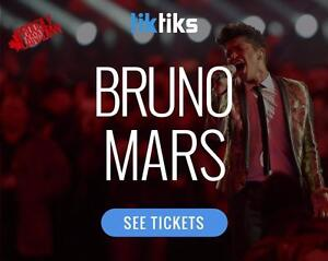 Bruno Mars live at the MTS Centre in Winnipeg August 2nd!