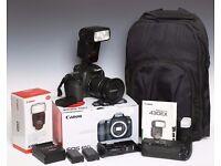 Canon 60D DSLR Camera with Lens Bag Battery Grip Flash