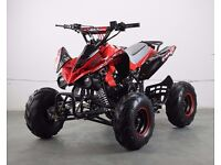 BRAND NEW 2016 KIDS 125CC RED QUAD BIKE WITH THROTTLE RESTRICTOR 4 STROKE AUTOMATIC FREE DELIVERY!