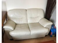 2 X Two seater LEATHER SOFAS