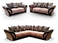 Brand New SHANNON Corner Or 3 + 2 Sofa, SWIVEL CHAIRS, Universal corner Sofa