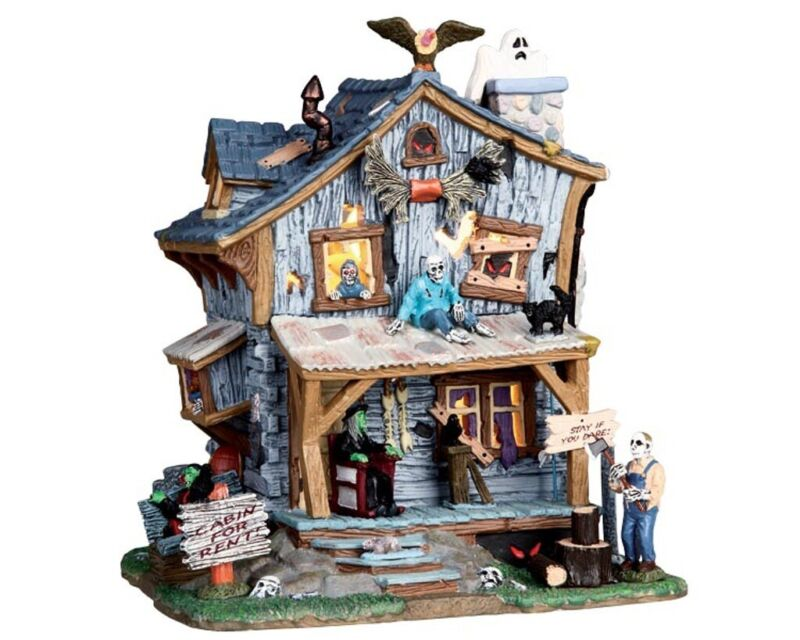 Lemax Spooky Town Haunted Cabin #05004 RARE/RETIRED Halloween Village Creepy
