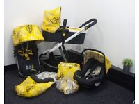 """3 in one travel system, costta, """"yellow"""""""