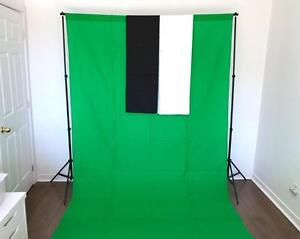 Ensemble Toile de Fond Studio PRO pour Photo Video Backdrop Stand Support Écran Kit 2012