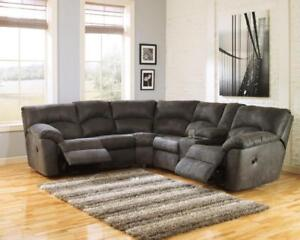 BRAND NEW! TAMBO CORNER RECLINING SECTIONAL - ASHLEY FURNITURE - SAVE UP TO 50$ OFF