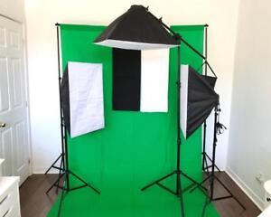 Éclairage PRO de Studio Lumière Softbox Diffuseur pour Photo Video Softbox Light Lighting Kit 2026